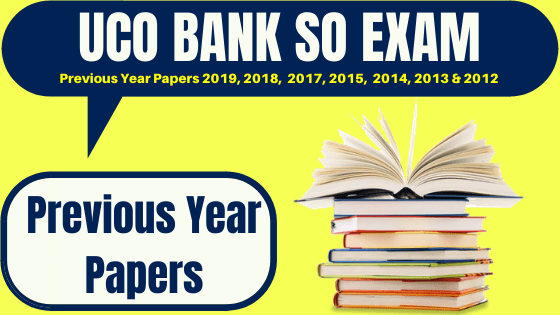 UCO Bank SO Previous Papers