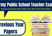 Army Public School Teacher Previous Papers
