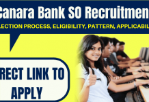 Canara Bank SO Recruitment