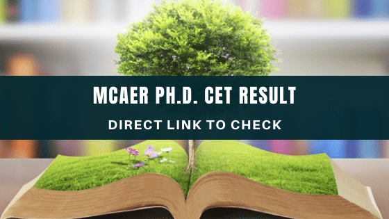 MCAER Ph.D. CET Result