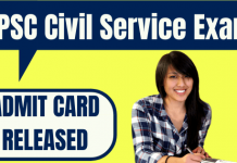 OPSC Civil Service Admit Card
