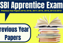 SBI Apprentice Previous Question Papers Pdf