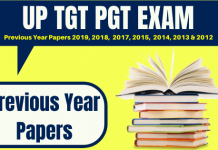 UP TGT PGT Previous Year Papers